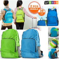 Foldable Unisex Backpack 2 Pcs Bundle