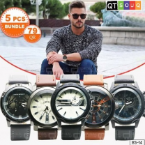 Men's Designer Watch Collection - Combo 1 (5 Pcs Bundle)