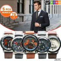 Men's Designer Watch Collection - Combo 2 (5 Pcs Bundle)