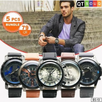 Men's Designer Watch Collection - Combo 3 (5 Pcs Bundle)