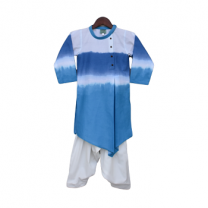Fayon Kids Blue & White Kurta with Crape Salwar