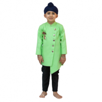 Fayon Kids Lime Green Ajkan With Pant
