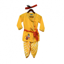 Fayon Kids Yellow Krishna Dhoti Set
