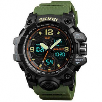 Skmei Men's Addic Green Analogue Digital Multi-function Sports Watch With Bracelet (Black Dial)