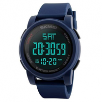 Skmei Digital Black Dial Men's Watch - 1257 Blue