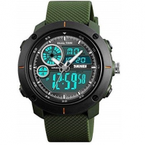 Skmei T Analogue-Digital Black Dial Men's Watch - 1361 Green
