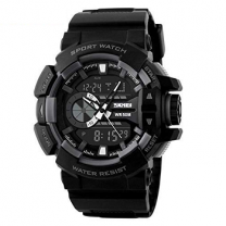 Skmei Analog-Digital Black Dial Men's Watch - 1117