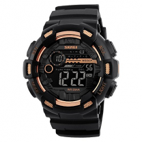 Skmei 1243 Multifunction Gold Chronograph Digital Sports Watch for Men
