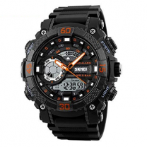 Skmei Analog-Digital Black Dial Men's Watch - 1228 Orange