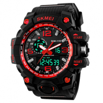 Skmei Analog-Digital Black Dial Men's Watch - 1155 Red