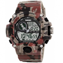 Skmei Military Camouflage Analogue-Digital Black Dial Men's Sports Watch