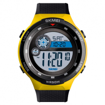 Skmei Digital Yellow Dial Boy's and Men's Watch - 1465 Yellow