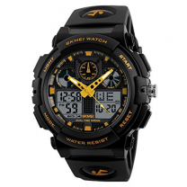 Skmei Analog-Digital Sport Black Dial Men's and Boy's Watch - 1270 Yellow