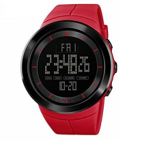 Skmei Men Sports Watch Data Multifunction Running Watches Digital Stopwatch Watch (Red)