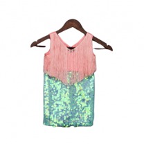 Fayon Kids Peach & Green Dress