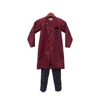 Fayon Kids Maroon Ajkan With Pant