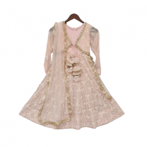 Fayon Kids Peach Lucknowi Anarkali