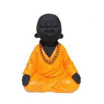 Baby Laughing Buddha, Orange-1