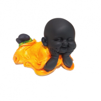Baby Laughing Buddha Orange - 3
