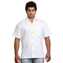 Zeme - Organic Cotton Shirt With Short Sleeves White