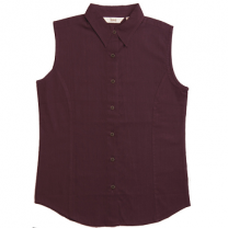 Zeme - Organic Cotton Sleeveless Shirt Maroon