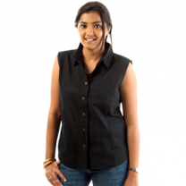 Zeme - Organic Cotton Sleeveless Shirt Black