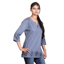 Zeme - Organic Cotton Short Kurti Grey