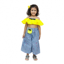 Fayon Kids Yellow Frill Top with Palazzo