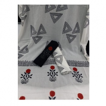 Cotton Block Printed Unstitched Suit Set - X44JP8D6D4D5D