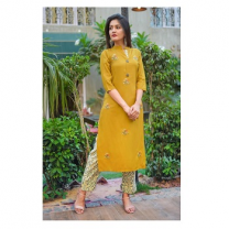 Geeta - Rayon Embroidered Straight Kurta - Z25JP5E40DA0B