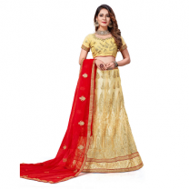 Net A - Line Self Design Lehenga Choli-467ST2F4B3B62