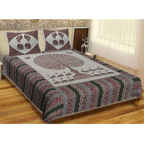 WCL - Cotton Printed Double Bedsheet With Pillow Cover-I34JPC12EC883