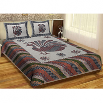 WCL - Cotton Printed Double Bedsheet With Pillow Cover-I34JP137C9C23