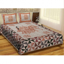 WCL - Cotton Printed Double Bedsheet With Pillow Cover-I34JPD6BD2F7B