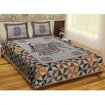 WCL - Cotton Printed Double Bedsheet With Pillow Cover-I34JPFFF1611C