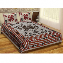 WCL - Cotton Printed Double Bedsheet With Pillow Cover-I34JPB49D27A6