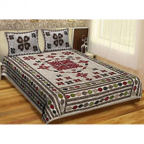 WCL - Cotton Printed Double Bedsheet With Pillow Cover-I34JP07686E64