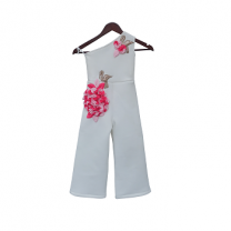 Fayon Kids White Lycra Jumpsuit