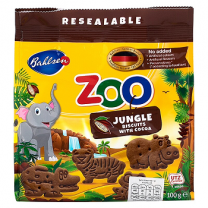 Leibniz Zoo Jungle Animals Cocoa Biscuits 100gm