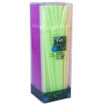 Fun Fluorescent Straws Flexible 225S