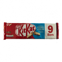 Nestle Kitkat 9x2 Finger Cookies and Cream 186.3g