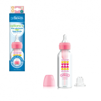 PP Narrow Options+ Bottle to Sippy Starter Kit, Pink Hearts (+L3 Nipple) (8 oz/250 ml)