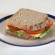 Brown Bread Low Fat Cheese And Tomato Sandwich