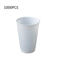 1000PCS (6.5Oz) Plastic White Cup