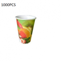 1000PCS (12 Oz)Paper Juice Cup + Lid