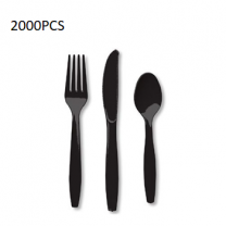 2000PCS Cutlery Set Black
