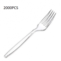 2000PCS Plastic Fork Clear