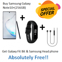 Special Offer Samsung Galaxy- Note10+(256GB) + Galaxy Fit Bit + Samsung Head Phone-HS1303