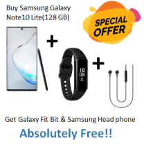 Special Offer Samsung Galaxy Note10-Lite(128 GB) + Galaxy Fit Bit + Samsung Head Phone-HS1303