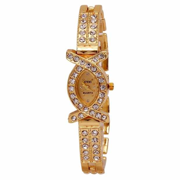 Eyki Stones Studded Watch for Girls & Women